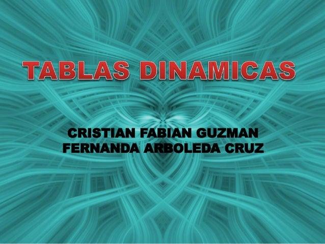 CRISTIAN FABIAN GUZMAN FERNANDA ARBOLEDA CRUZ