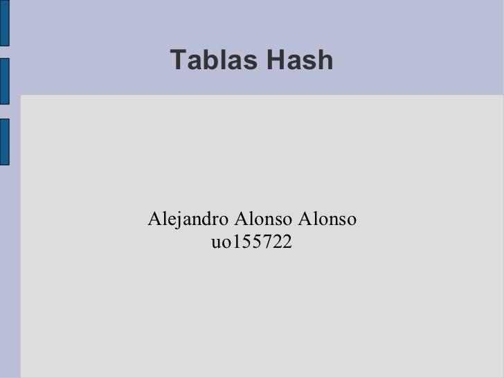 Tablas Hash Alejandro Alonso Alonso uo155722