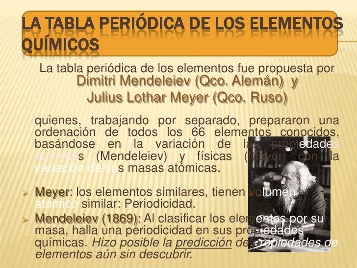 la tabla peridica de los elementos qumicos la tabla peridica de los elementos fue propuesta por dimitri mendeleiev qco - Quien Elaboro La Tabla Periodica De Los Elementos Quimicos