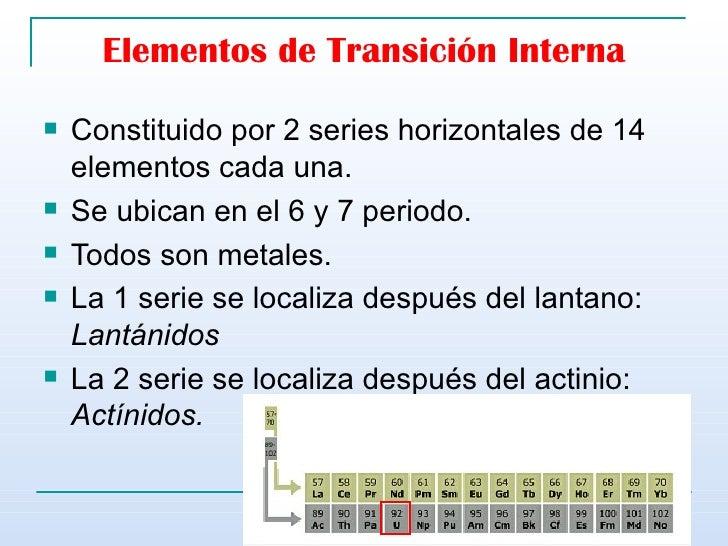 Tabla peridica elementos de transicin interna urtaz Image collections