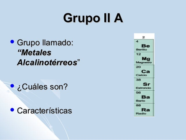 Tabla periodica grupos caracteristicas images periodic table and tabla periodica de los elementos quimicos grupo 2 choice image grupo 2 de la tabla periodica urtaz Image collections