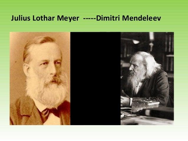 julius lothar meyer dimitri mendeleev - Tabla Periodica Julius Lothar Meyer