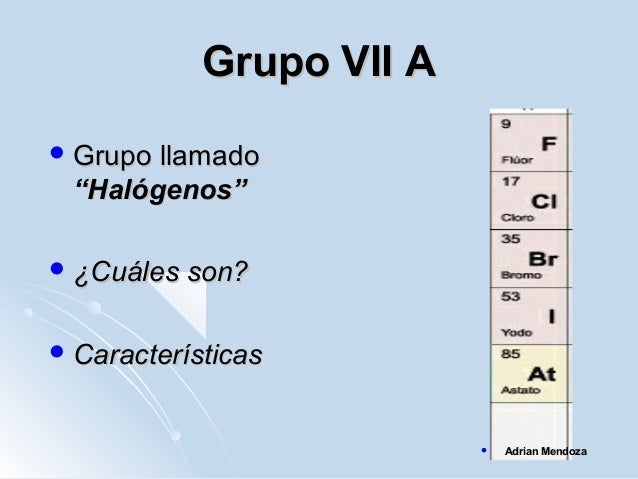 Tabla periodica grupo de halogenos image collections periodic tabla peridica adrian mendoza grupo flavorsomefo image collections urtaz Images