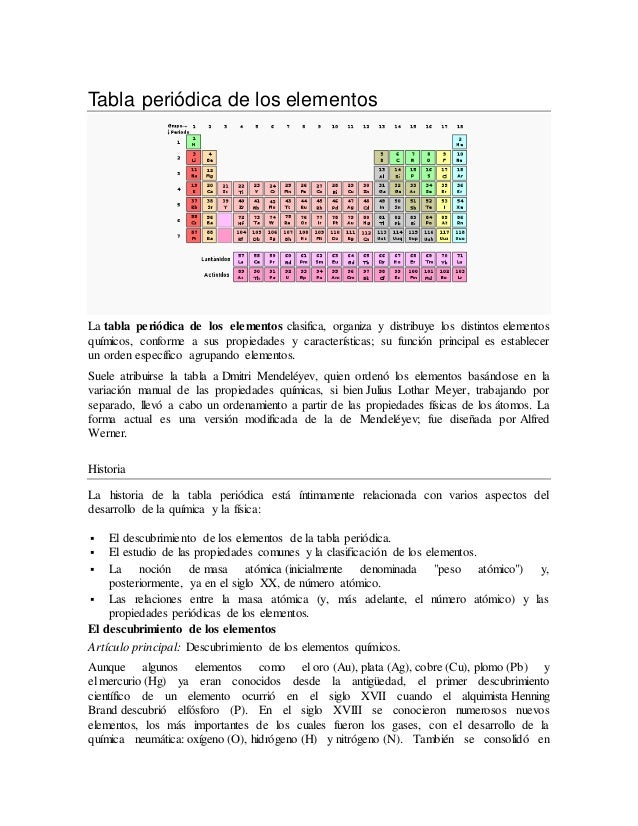 Tabla peridica de los elementos tabla peridica de los elementos la tabla peridica de los elementos clasifica organiza y distribuye urtaz Image collections