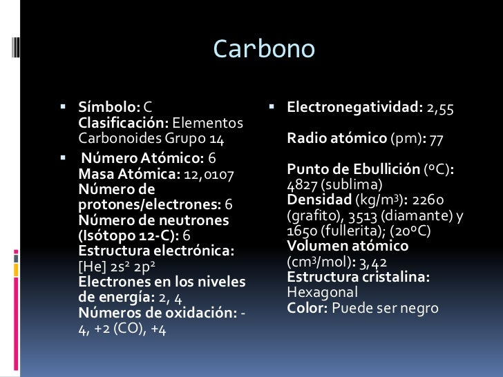 Grupo 14 tabla periodica carbonoideos carbonobr urtaz Gallery