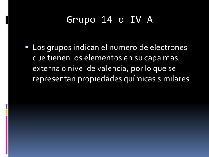 Grupo 14 tabla periodica carbonoideos grupo urtaz Image collections
