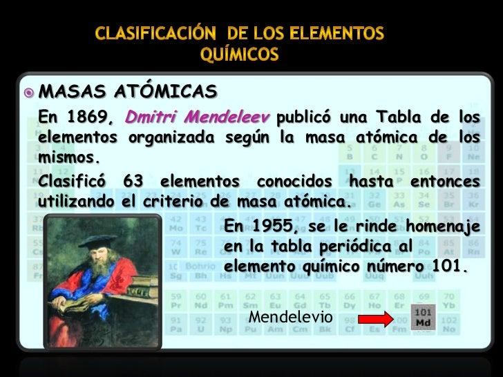 Clasificacin de los elementos qumicos en la tabla peridica 9 masas urtaz Choice Image