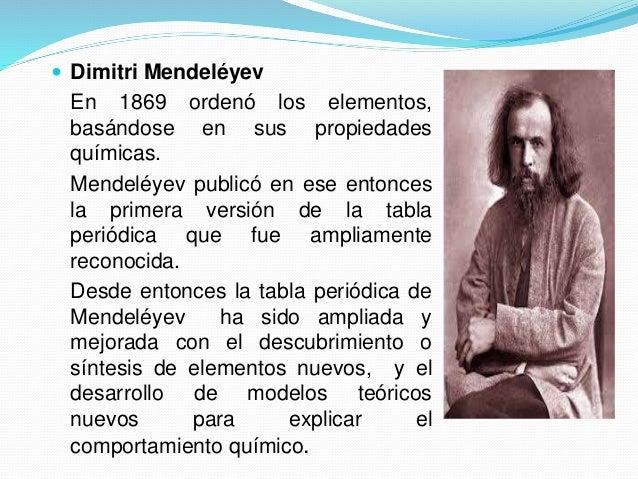 Tabla peridica de los elementos qumicos 3 dimitri mendelyev en 1869 orden los elementos urtaz Images
