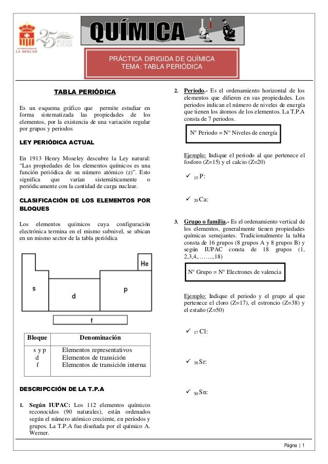 Tabla peridica tabla peridica prctica dirigida de qumica tema urtaz Images