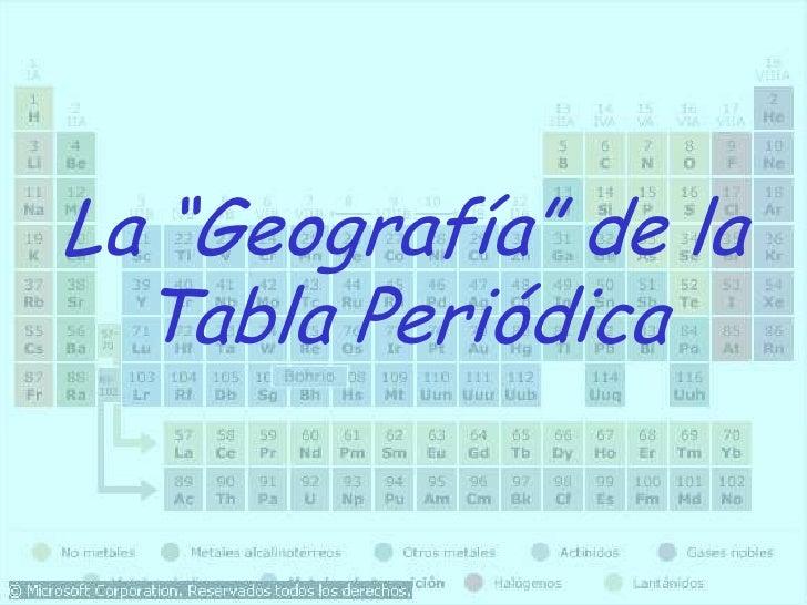 Tabla periodica quimica la geografa de la tabla peridicabr urtaz Choice Image