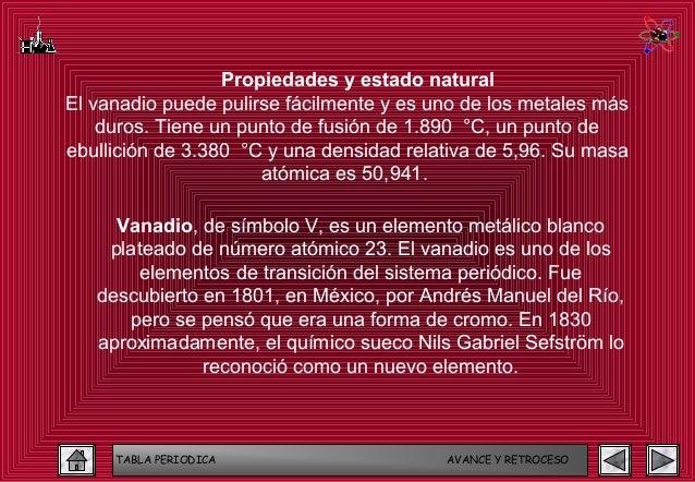 Tabla periodica 82 638gcb1362567400 tabla periodica avance y retroceso 82 propiedades y estado naturalel vanadio urtaz Image collections