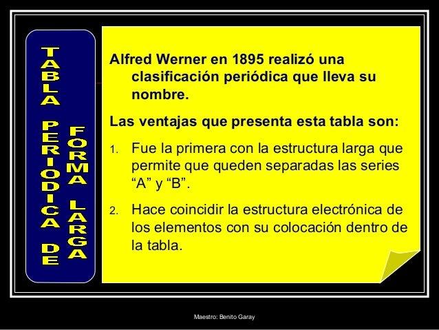 Tabla periodica alfred werner en 1895 realiz una clasificacin peridica urtaz Image collections