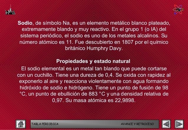 tabla periodica avance y retroceso 18 - Tabla Periodica Sodio Grupo