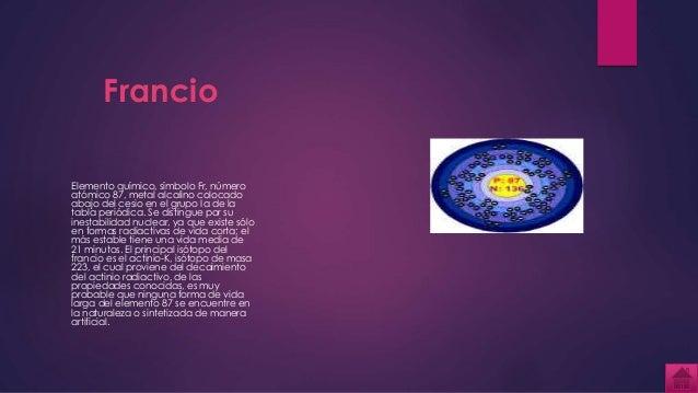 Tabla periodica francio elemento qumico urtaz Choice Image