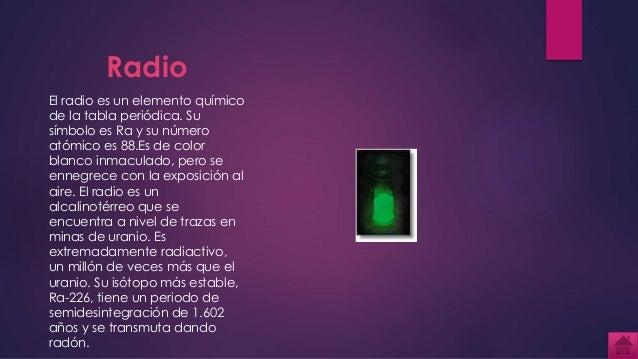 Tabla periodica 75 radio el radio es un elemento qumico de la tabla peridica urtaz Gallery