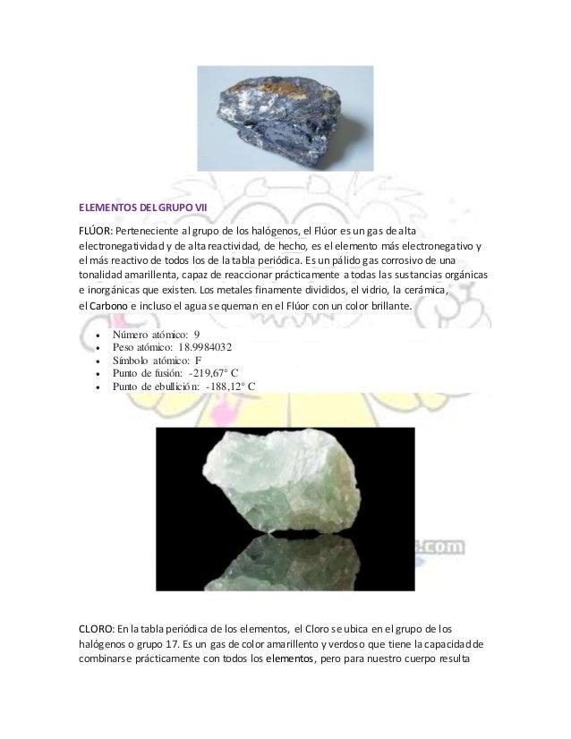 Tabla periodica de los elementos fluor images periodic table and tabla periodica elementos del grupo vii flor flavorsomefo images urtaz Choice Image
