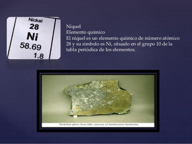 Tabla periodica nquel elemento qumico urtaz Choice Image