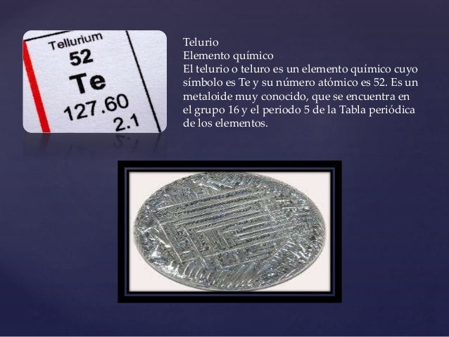 Tabla periodica telurio urtaz Gallery