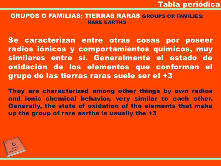 tabla peridicagrupos o familias tierras raras - Tabla Periodica Tierras Raras