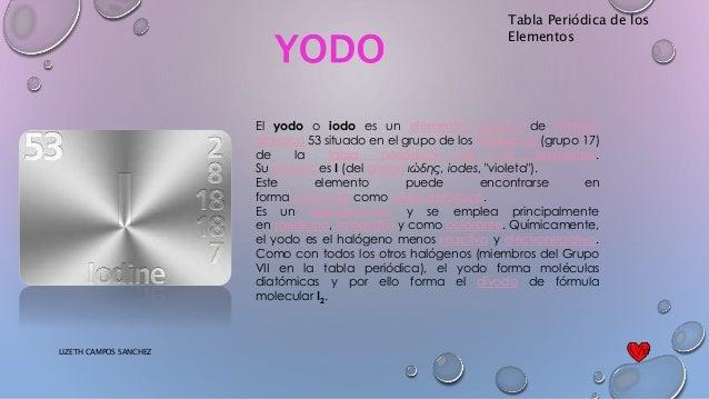 Tabla peridica tabla peridica de los elementos yodo urtaz Image collections