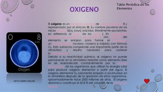 Tabla peridica tabla peridica de los elementos oxigeno urtaz Images