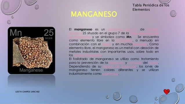 Tabla peridica tabla peridica de los elementos manganeso urtaz Image collections
