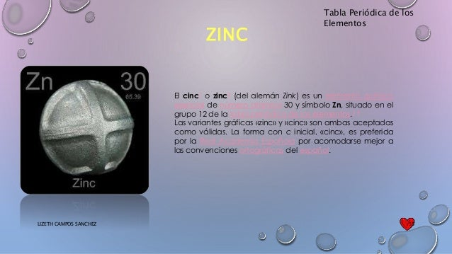 Tabla peridica tabla peridica de los elementos zinc urtaz Image collections