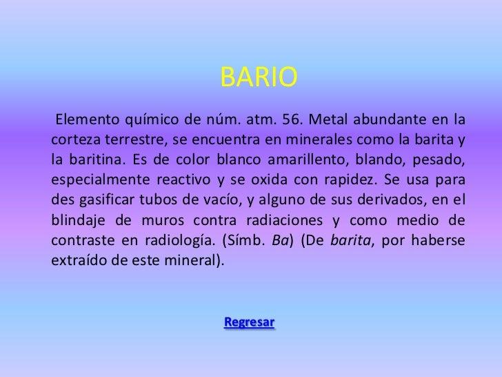 Tabla periodica de elementos quimicos regresar 12 bario elemento qumico urtaz Images