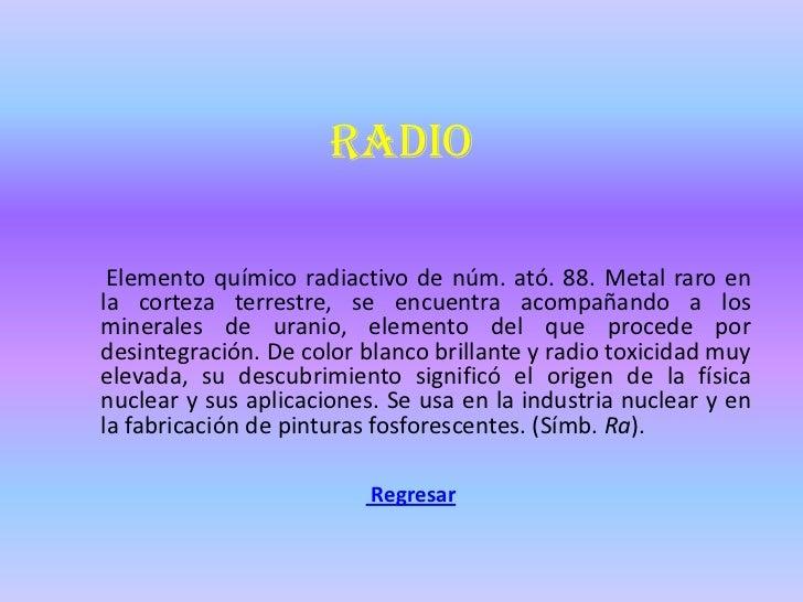 Tabla periodica de elementos quimicos radio elemento urtaz Choice Image