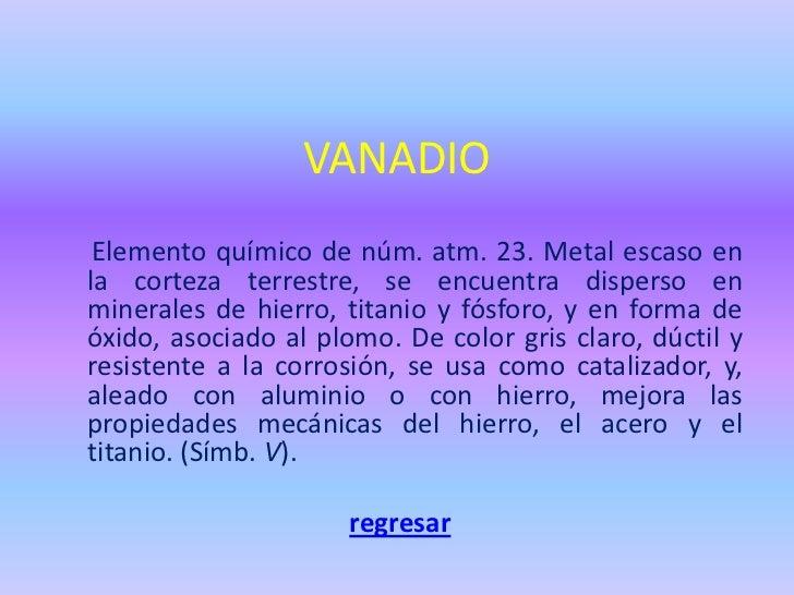 Tabla periodica de elementos quimicos vanadio elemento urtaz Image collections