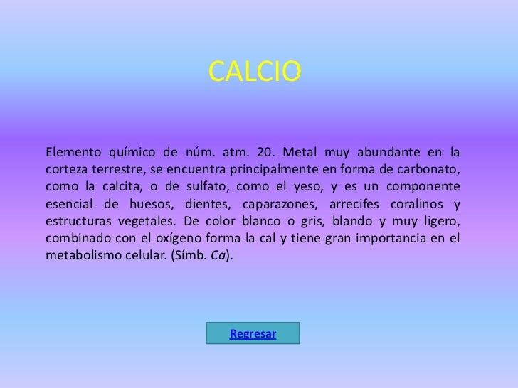 Tabla periodica de elementos quimicos regresar 8 calcioelemento qumico urtaz Images