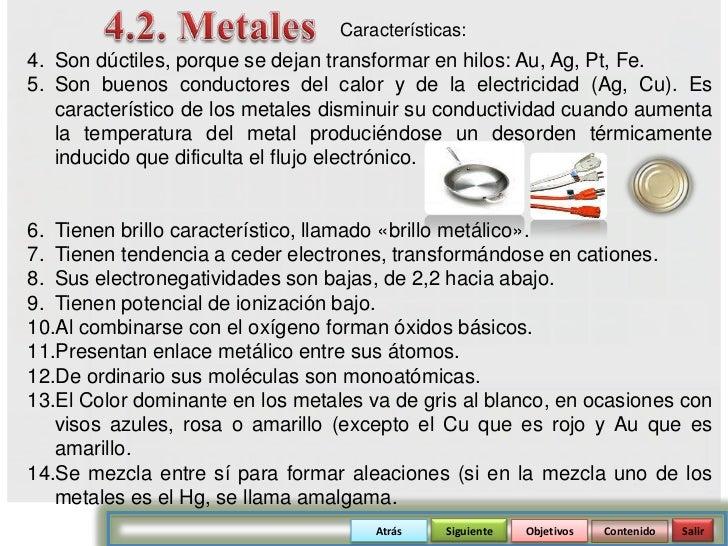 atrs siguiente objetivos contenido salir 62 - Tabla Periodica Metales Ductiles