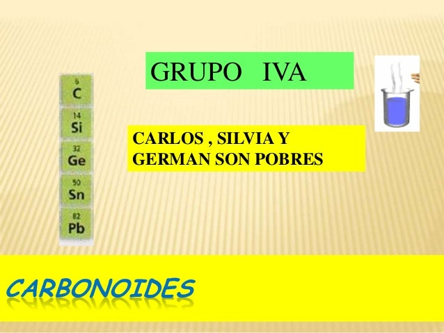 La tabla peridica carlos silvia y german son pobres carbonoides grupo iva urtaz Image collections
