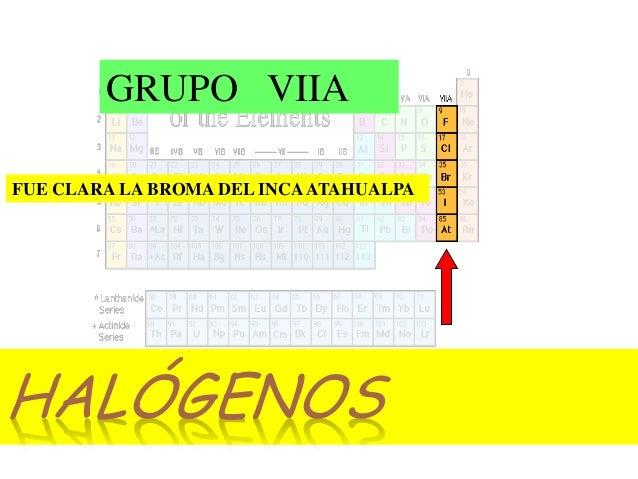 La tabla peridica halgenos fue clara la broma del incaatahualpa grupo viia urtaz Images