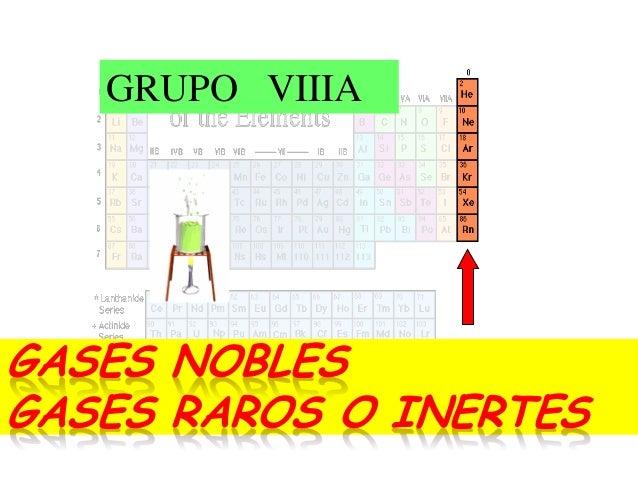 La tabla peridica gases nobles gases raros o inertes grupo viiia urtaz Choice Image