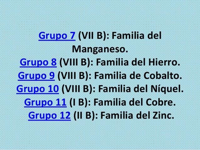 Grupo 13 (III A): Térreos. Grupo 14 (IV A): Carbonoideos. Grupo 15 (V A): Nitrogenoideos. Grupo 16 (VI A): Calcógenos o An...