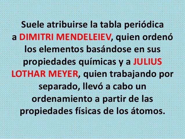 La estructura actual fue diseñada por ALFRED WERNER a partir de la versión de Mendeleiev.  En la tabla periódica podemos d...