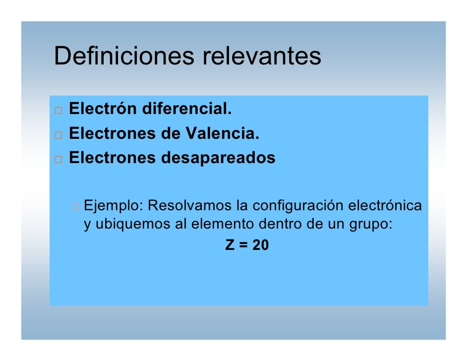 Tabla periodica qm 2010 definiciones relevantes electrn diferencial electrones de valencia urtaz Image collections