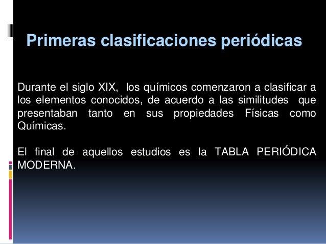 Tabla periodica recopilacin tabla peridica 3 primeras clasificaciones peridicas durante el siglo xix urtaz Gallery