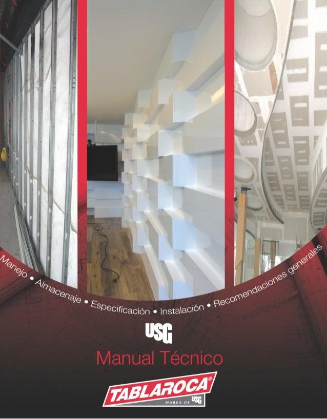 Tablaroca USG  Manual técnico