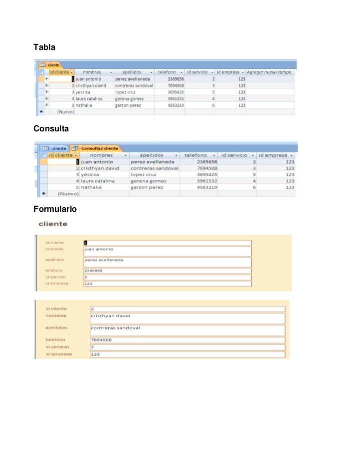 Tabla <br />Consulta<br />Formulario<br />Informe <br />Relaciones<br />Tabla <br />Consulta<br />Formulario<br />Informe<...