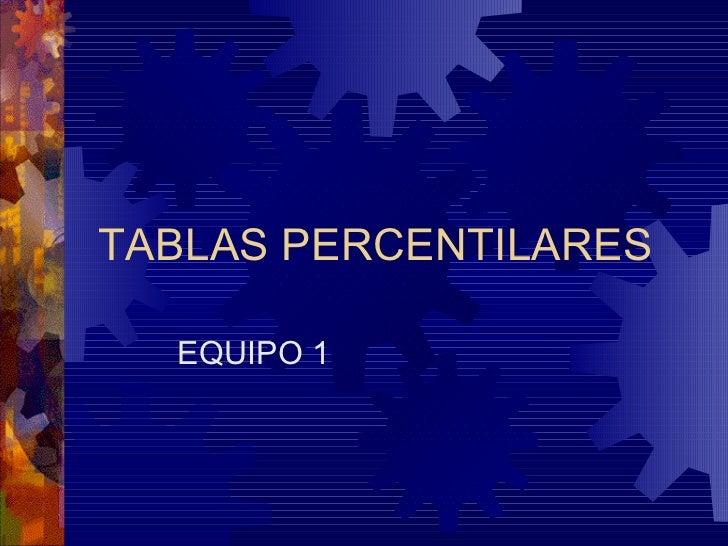 TABLAS PERCENTILARES EQUIPO 1