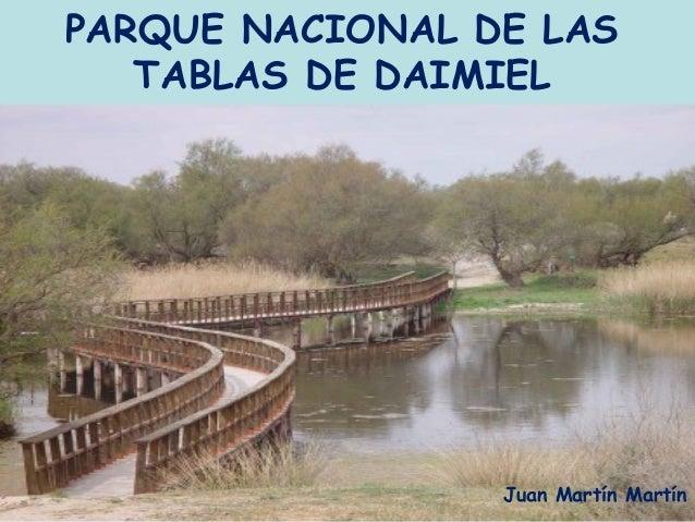 PARQUE NACIONAL DE LAS   TABLAS DE DAIMIEL                 Juan Martín Martín
