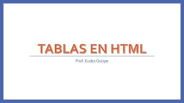 Prof. Eudes Quispe