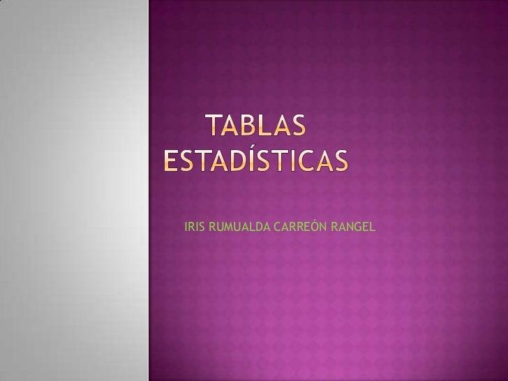 IRIS RUMUALDA CARREÓN RANGEL