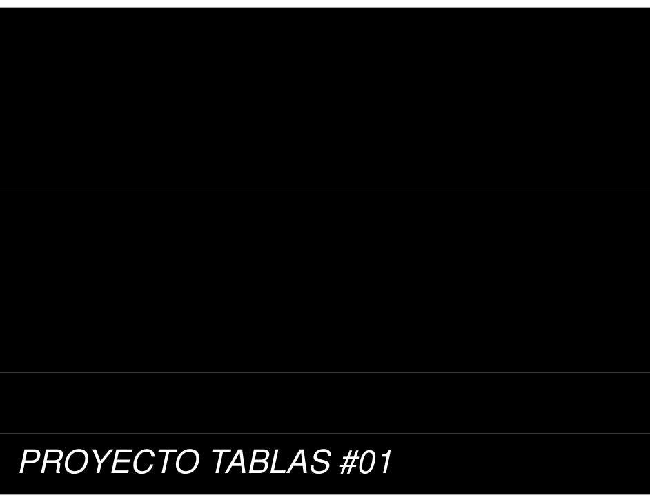 PROYECTO TABLAS #01