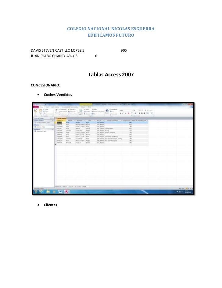 COLEGIO NACIONAL NICOLAS ESGUERRA                           EDIFICAMOS FUTURODAVIS STEVEN CASTILLO LOPEZ 5               9...