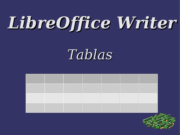 LibreOffice Writer Tablas