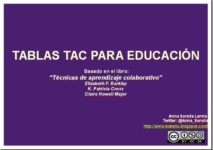 Tabla TAC Educación