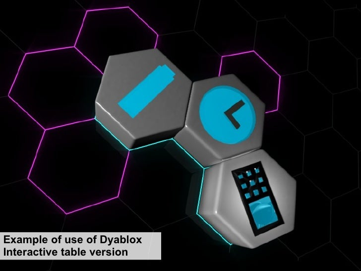 Example of use of Dyablox Interactive table version